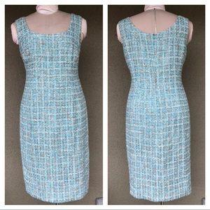 Escada boucle tweed shift dress